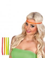 4 Neon Haarbänder für Erwachsene