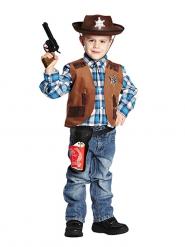 Cowboy-Weste für Kinder braun