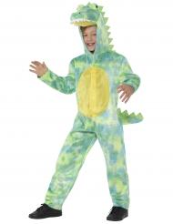 Krokodil Kostüm für Jungen Tierkostüm grün-gelb