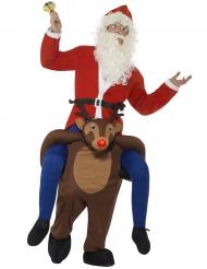 Carry Me Kostüm auf dem Rücken eines Weihnachtsmannes