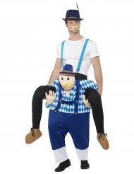 Carry Me Kostüm Oktoberfest für Erwachsene blau