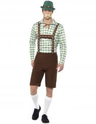 Oktoberfest Kostüm grün und braun für Erwachsene