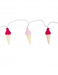 Leuchtende Girlande Eistüten