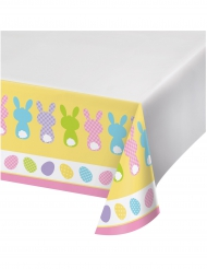 Kaninchen-Tischdecke bunt 1,37 x 2,59m waschbar