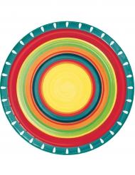 8 mexikanische Pappteller 22 cm