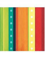 16 Papierservietten Mexiko 25 x 25 cm