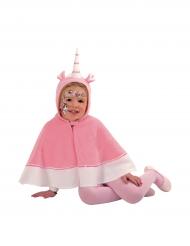 Umhang Einhorn mit rosa Kapuze für Mädchen