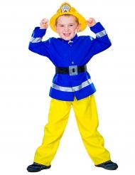 Feuerwehrmann Kinder-Kostüm blau-gelb-schwarz