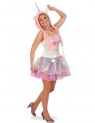 Einhorn-Kostüm für Damen mit Mütze