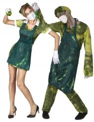 Halloween Paarkostüm Zombie-Ärzte