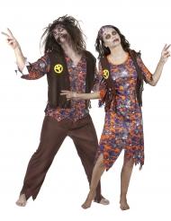 Halloween Paarkostüm Zombie Hippie