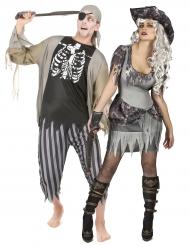 Halloween Paar-Kostüm Zombie-Pirat