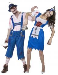 Halloween Paarkostüm Bayerischer Zombie