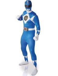 Power Rangers™ Second Skin Kostüm für Erwachsene blau