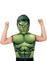 Hulk™ T-Shirt und Maske für Kinder grün
