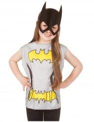 Batgirl™ T-Shirt und Maske für Kinder bunt