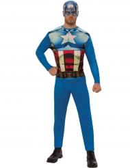 Captain America™ Lizenzkostüm für Herren blau-rot-weiss