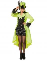 Steampunk-Mantel für Erwachsene neongelb
