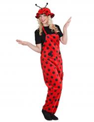 Marienkäfer Kostüm für Damen Latzhose