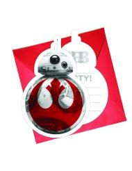 6 Einladungskarten + Umschläge Star Wars Die letzten Jedi™