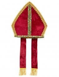 Bischof Kopfbedeckung rot-gold