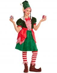 Elfen-Erwachsenenkostüm für Weihnachten Wichtel grün-rot-weiss