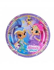 8 Pappteller Shimmer & Shine 18 cm