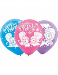 6 Latexballons Shimmer & Shine™ 23 cm
