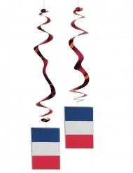 Satz von 6 metallischen Flaggenaufhängungen Frankreich