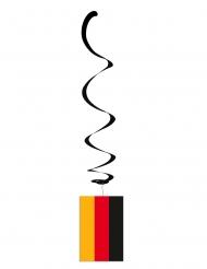 6 Metallic Aufhänger mit Deutschlandflagge