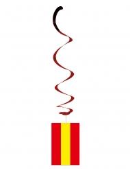 Satz von 6 metallischen Flaggenaufhängungen Spanien