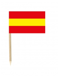 Fanartikel Party-Picker Spanien 50 Stück 3x5cm rot-gelb