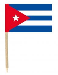 50 Flaggen Mini-Spicker Kuba 3 x 4,5 cm