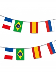 Flaggen-Girlande 13m bunt Kunststoff