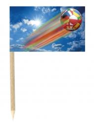 Set aus 50 Spickern Fußball der Nationen 3 x 5 cm