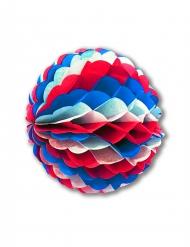 Dreifarbiger Wabenball Deko Frankreich rot-weiß-blau 50 cm