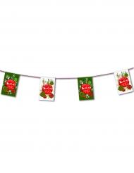 Weihnachts-Girlande grün-rot-weiss 4,5m