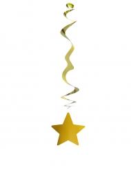 Raum-Girlande Stern Hängedekoration Weihnachten 6 Stück gold 80cm