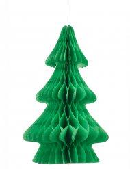 Tanne Tischdeko Aufsteller aus Papier grün 24 cm
