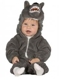 Kleiner Wolf Kostüm für Kleinkinder grau