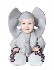 Süsses Elefanten-Babykostüm grau