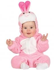 Hasen-Babykostüm weiss-pink