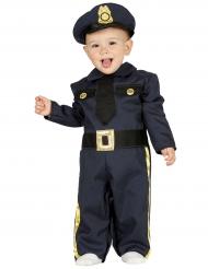 Polizisten-Kostüm für Kleinkinder Overall blau-gold-schwarz