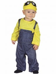 Fleißige-Trickfilmfigur für Kleinkinder gelb-blau