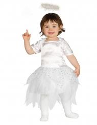 kleines Engelchen Kinderkostüm weiss