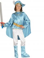 Edles Prinzenkostüm für Kinder blau-weiss