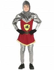 Drachen Ritterkostüm für Kinder rot-silber