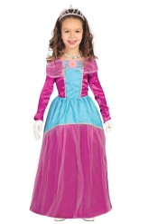 Süße Prinzessin Kostüm für Mädchen lila-blau
