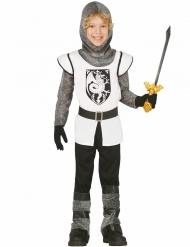 Tapferer Ritter-Kostüm für Kinder weiss-grau