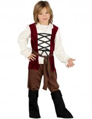 Mittelalter Kostüm für Jungen braun-rot